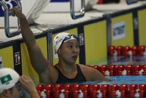 Team Singapore athlete Marina Chan acts as mentor